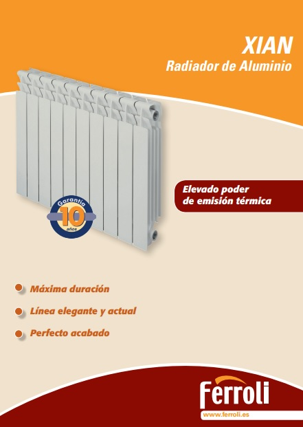 Catalogo radiadores Ferroli Xian