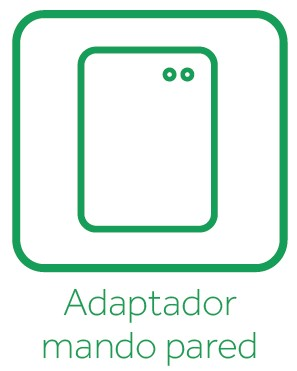 Adaptador mando pared