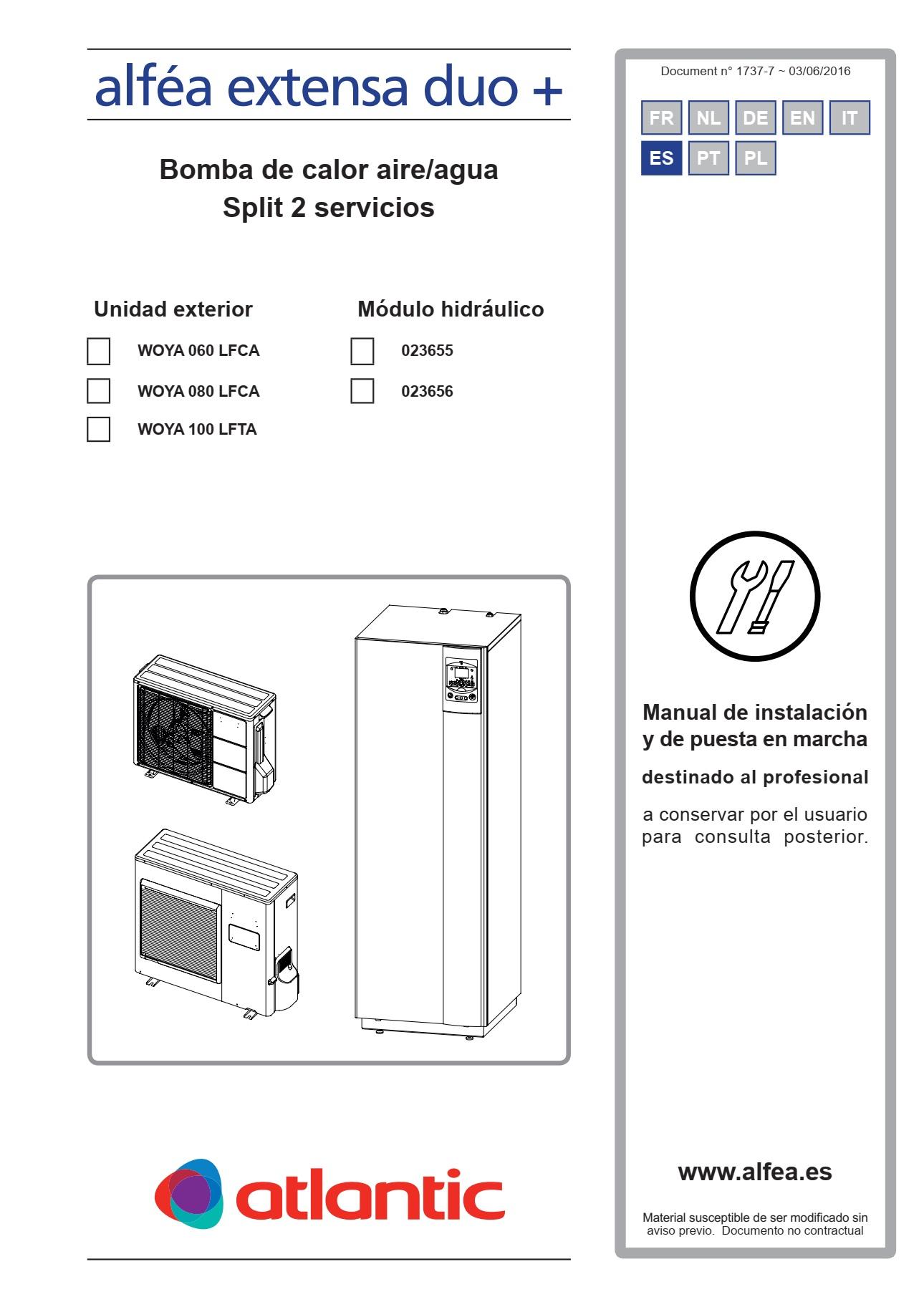 Alfea Extensa Duo Ai - Manual de instalacion
