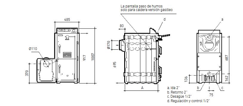 Caldera policombustible Baxi P 30
