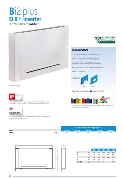 Catálogo Radiador de Baja Temperatura Olimpia Splendid SLR  Inverter 200 DC