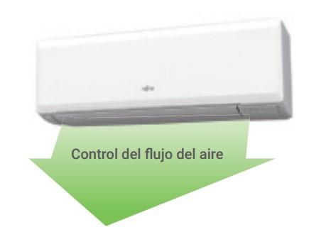 Control de flujo de aire fujitsu