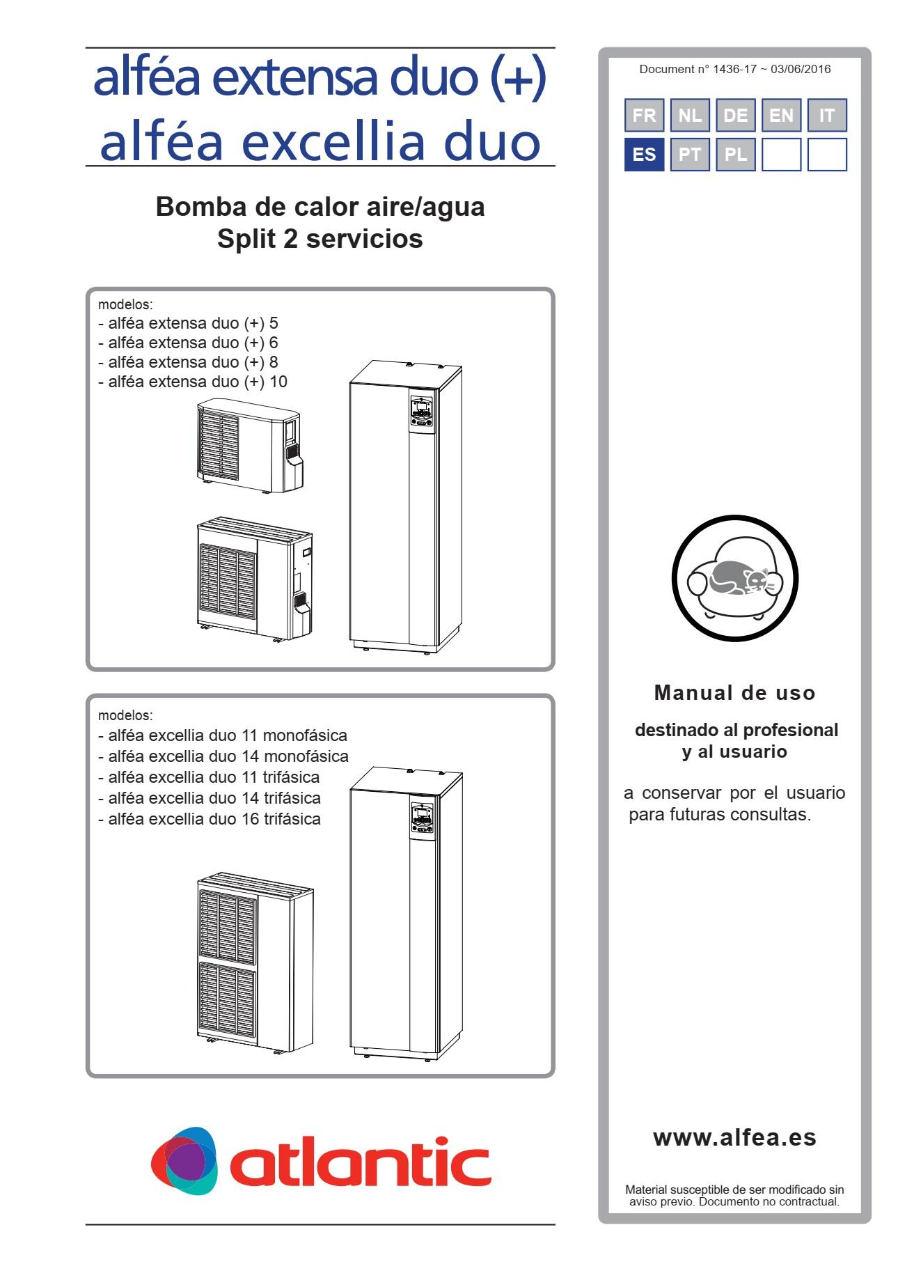 Manual de usuario Alfea excellia duo ai