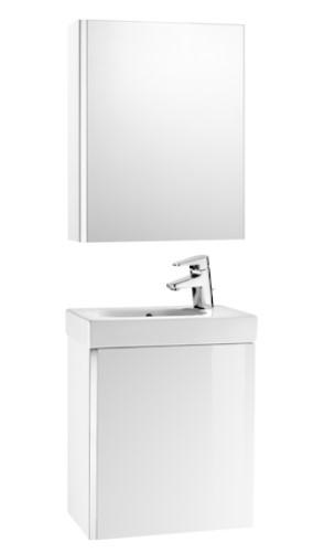 Mueble de baño base Roca de MINI  650mm Arena texturizada blanco brillo