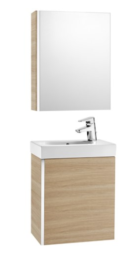 Mueble de baño base Roca de MINI  650mm Arena texturizada roble texturizado