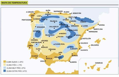 Mapa de Temperatura España