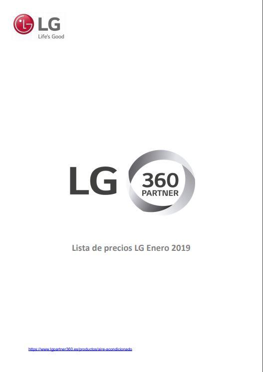 Tarifa Climatización LG 2019