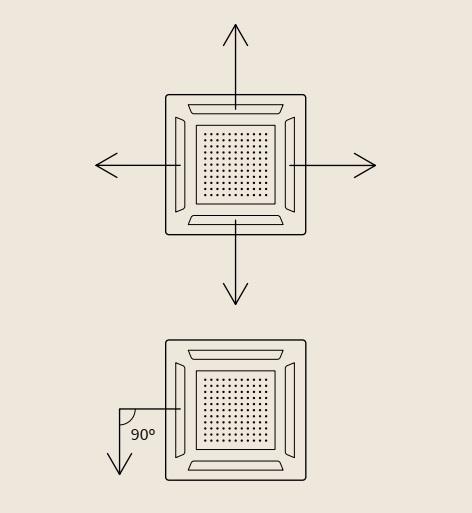 Aire Acondicionado Cassette Hitachi Primairy - Reparto uniforme del aire