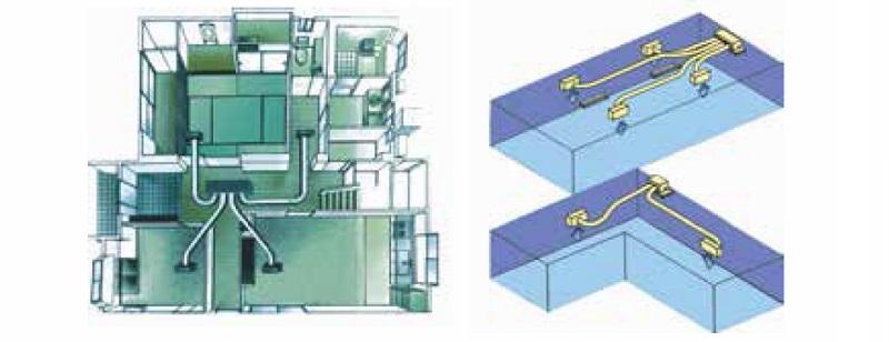 Aire acondicionado conductos Haier AD - Conexión flexible del conducto