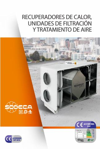 Catalogo Recuperadores de aire Sodeca