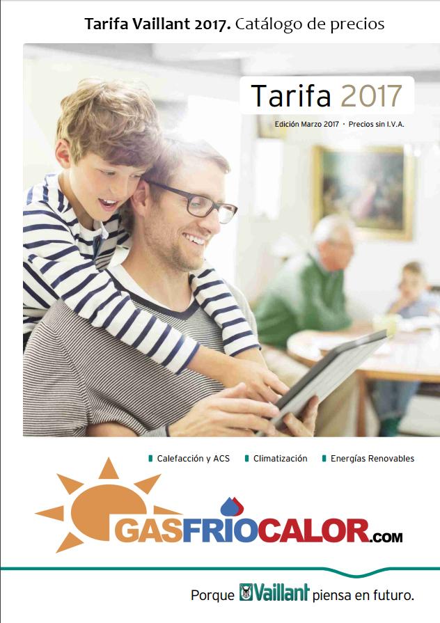 Tarifa Vaillant 2017. Catálogo de Precios